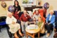 four exeter centenarians celebrate their birthdays at age uk party